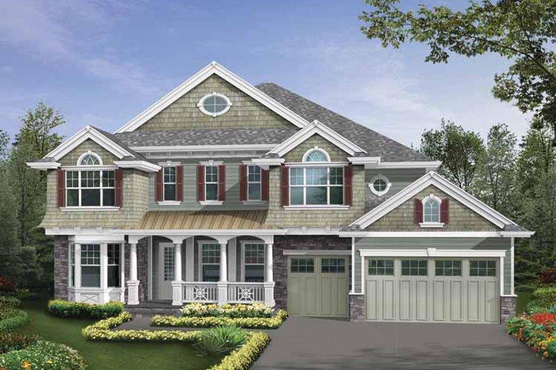 Home Plan - Craftsman Exterior - Front Elevation Plan #132-513