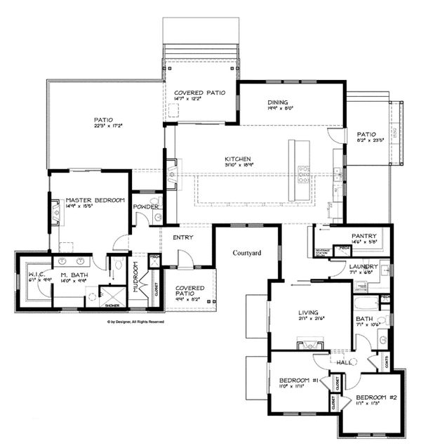Ranch Floor Plan - Main Floor Plan Plan #895-76
