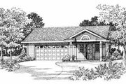 Traditional Style House Plan - 1 Beds 1 Baths 321 Sq/Ft Plan #72-284