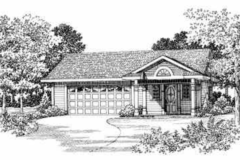 Traditional Exterior - Front Elevation Plan #72-284