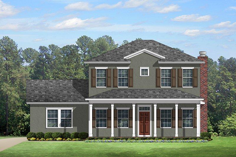 Colonial Exterior - Front Elevation Plan #1058-132 - Houseplans.com