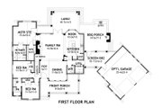 Craftsman Style House Plan - 3 Beds 2.5 Baths 1698 Sq/Ft Plan #120-168 Floor Plan - Main Floor Plan
