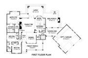 Craftsman Style House Plan - 3 Beds 2.5 Baths 1698 Sq/Ft Plan #120-168 Floor Plan - Main Floor
