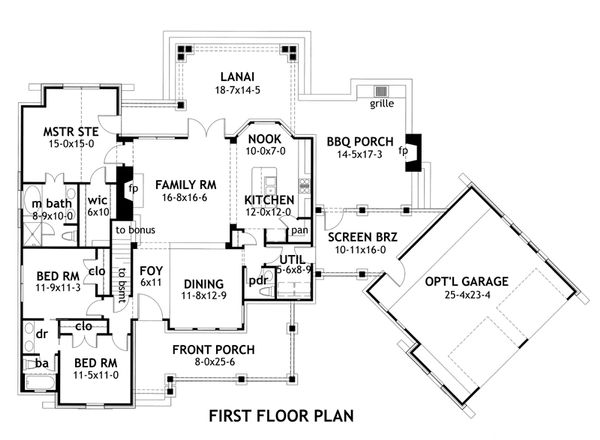 Mountain lodge craftsman style home plan by David Wiggins 1,700 sft