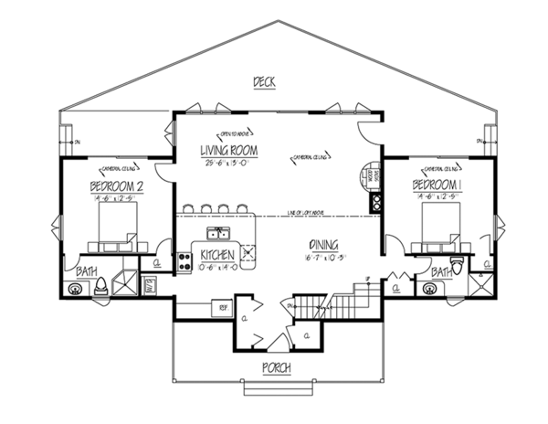 Contemporary Floor Plan - Main Floor Plan Plan #1061-8