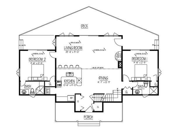 Contemporary Floor Plan - Main Floor Plan Plan #1061-8