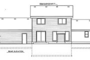 Traditional Style House Plan - 4 Beds 2.5 Baths 1795 Sq/Ft Plan #99-204 Exterior - Rear Elevation