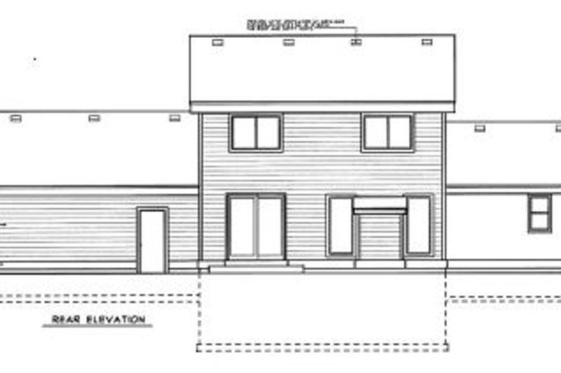 Traditional Exterior - Rear Elevation Plan #99-204 - Houseplans.com