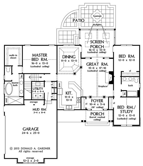Dream House Plan - European Floor Plan - Main Floor Plan #929-967