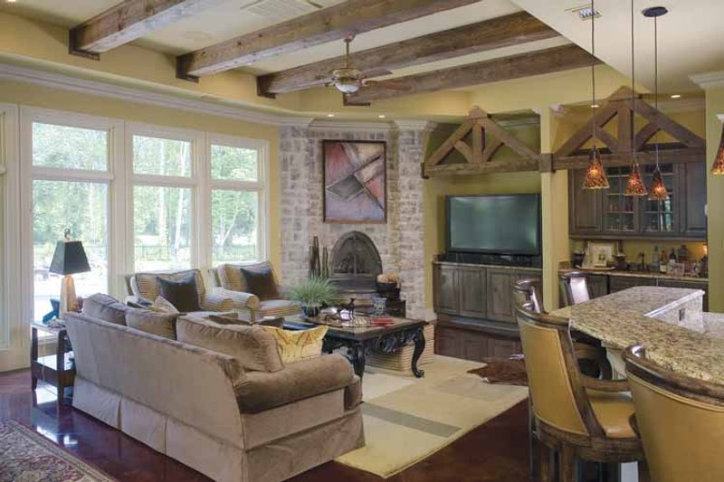 Traditional Interior - Family Room Plan #17-2757 - Houseplans.com