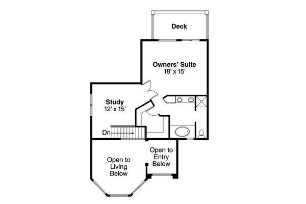 Mediterranean Floor Plan - Upper Floor Plan Plan #124-235