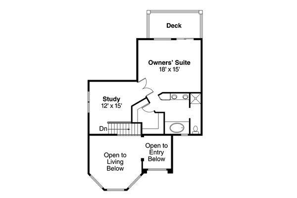 Mediterranean Floor Plan - Upper Floor Plan Plan #124-235