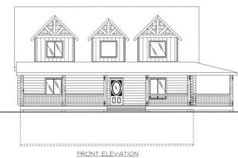 Log Exterior - Other Elevation Plan #117-555 - Houseplans.com