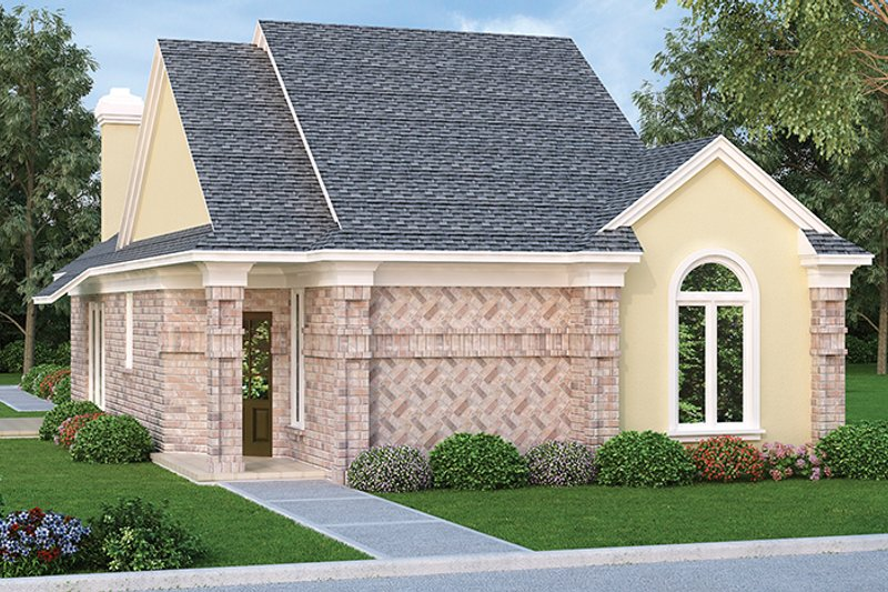 Ranch Exterior - Front Elevation Plan #45-536