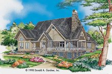 Country Exterior - Front Elevation Plan #929-327