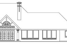 European Exterior - Rear Elevation Plan #124-417