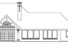 Home Plan - European Exterior - Rear Elevation Plan #124-417
