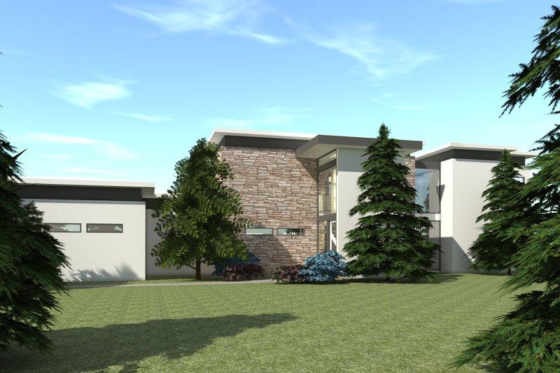 Modern Exterior - Front Elevation Plan #64-228 - Houseplans.com