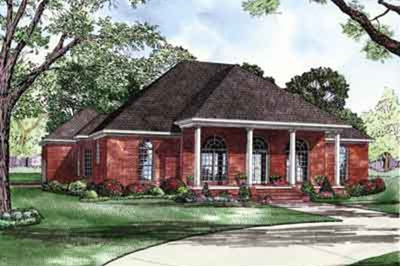 Home Plan - Southern Exterior - Front Elevation Plan #17-2154