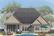Craftsman Style House Plan - 4 Beds 3 Baths 2633 Sq/Ft Plan #929-824 Exterior - Rear Elevation