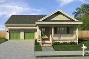 Traditional Style House Plan - 3 Beds 2 Baths 1717 Sq/Ft Plan #497-42 Exterior - Front Elevation
