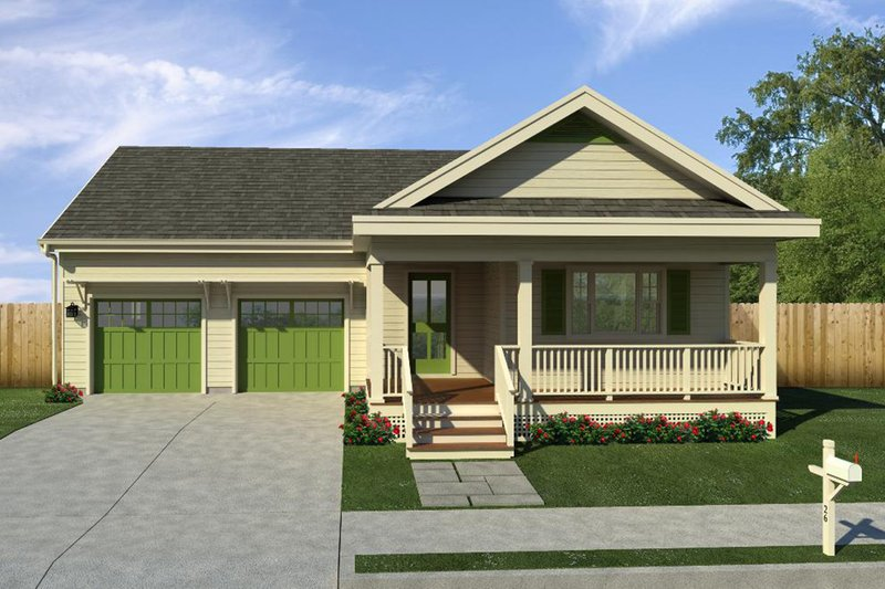 House Blueprint - Traditional, Front Elevation