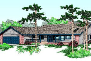 Ranch Exterior - Front Elevation Plan #60-188
