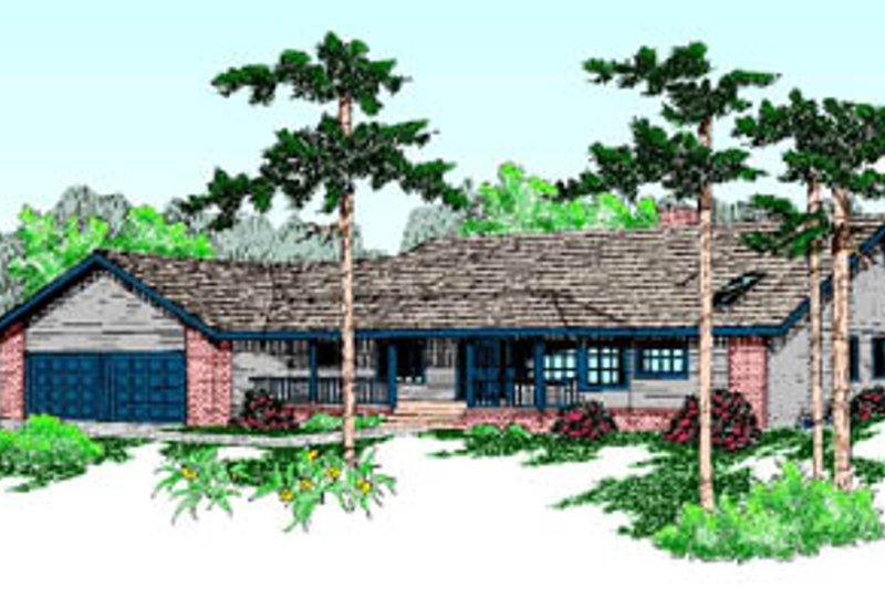 Ranch Exterior - Front Elevation Plan #60-188 - Houseplans.com