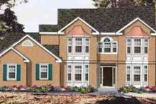 Dream House Plan - European Exterior - Front Elevation Plan #3-141