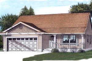 Traditional Exterior - Front Elevation Plan #53-105
