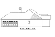 European Style House Plan - 4 Beds 2 Baths 1854 Sq/Ft Plan #17-1033 Exterior - Other Elevation