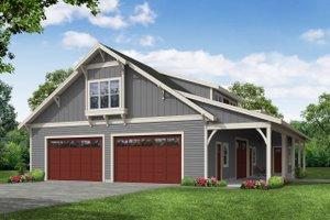 Craftsman Exterior - Front Elevation Plan #124-1250