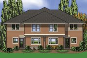 Modern Style House Plan - 3 Beds 2.5 Baths 2861 Sq/Ft Plan #48-261 Exterior - Rear Elevation