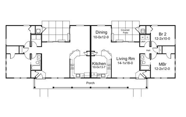 Country Floor Plan - Main Floor Plan Plan #57-681