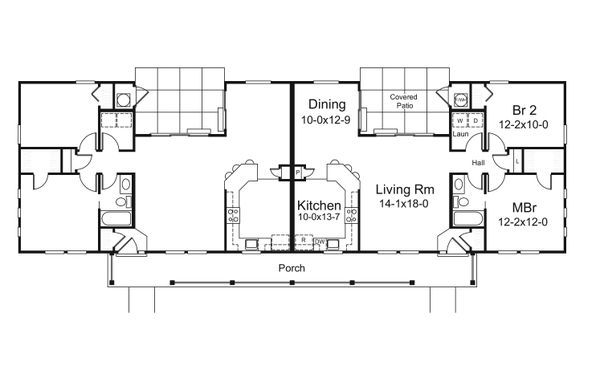 Dream House Plan - Country Floor Plan - Main Floor Plan #57-681