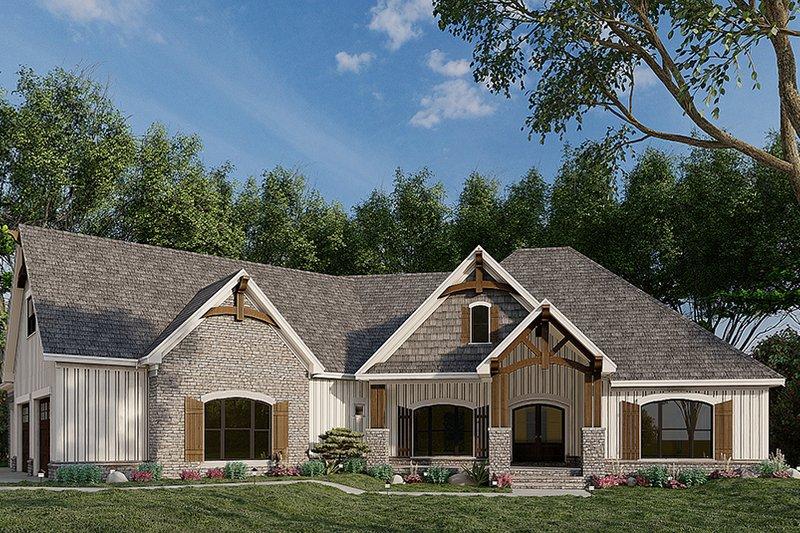 Home Plan - European Exterior - Front Elevation Plan #923-180