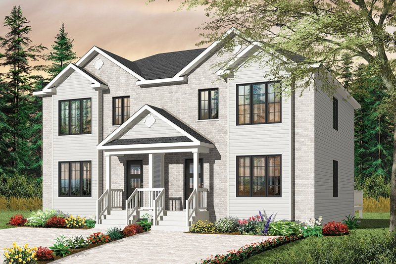 Traditional Style House Plan - 6 Beds 2 Baths 2720 Sq/Ft Plan #23-2411 Exterior - Front Elevation