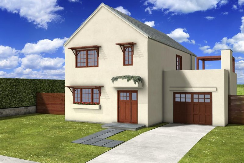 House Blueprint - Traditional Exterior - Front Elevation Plan #497-40