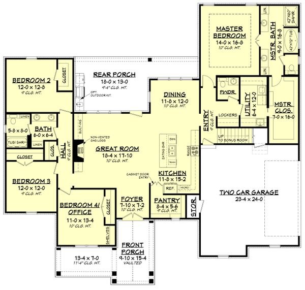 Dream House Plan - Modern Floor Plan - Main Floor Plan #430-184