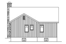 Cottage Exterior - Rear Elevation Plan #22-571