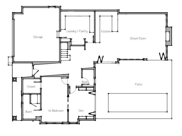Beach Floor Plan - Main Floor Plan Plan #481-4