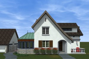 Traditional Exterior - Front Elevation Plan #933-2