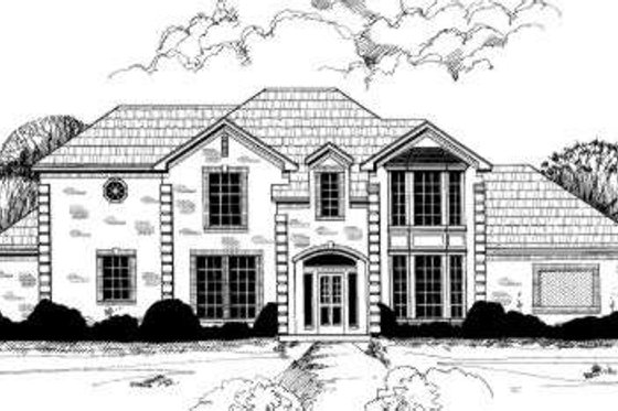 European Exterior - Front Elevation Plan #317-118