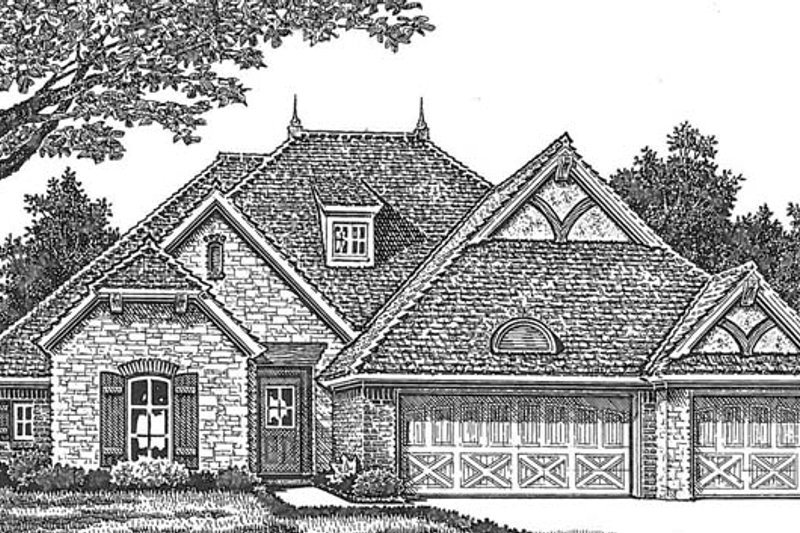 Architectural House Design - Country Exterior - Front Elevation Plan #310-1273