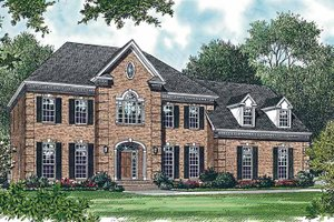 Colonial Exterior - Front Elevation Plan #453-360