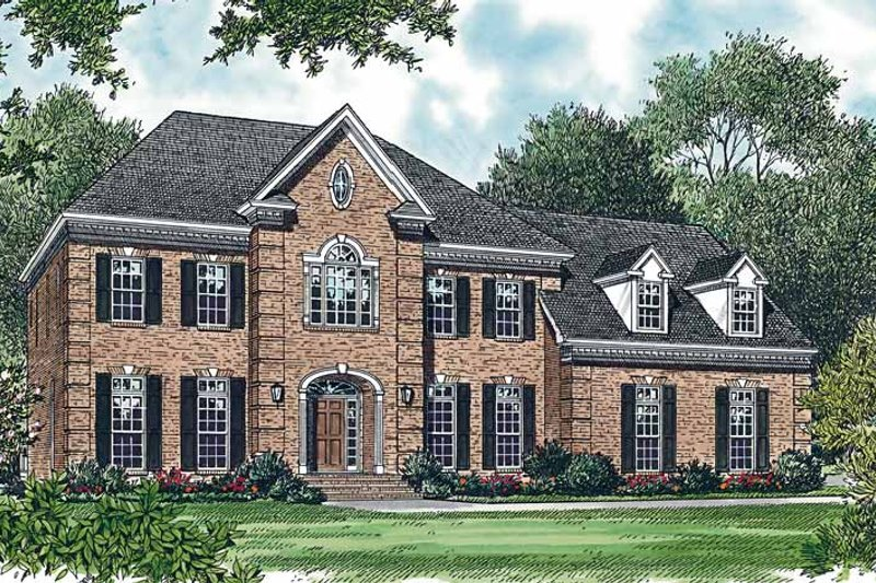 Colonial Exterior - Front Elevation Plan #453-360 - Houseplans.com