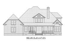 House Plan Design - European Exterior - Rear Elevation Plan #1054-44