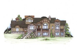 Craftsman Exterior - Front Elevation Plan #5-371