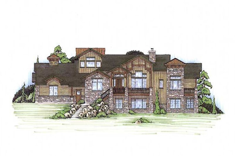 Craftsman Style House Plan - 5 Beds 3 Baths 2335 Sq/Ft Plan #5-371 Exterior - Front Elevation