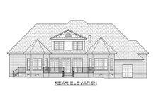 House Design - European Exterior - Rear Elevation Plan #1054-54